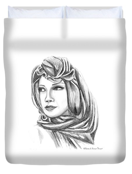 Bedouin Woman Duvet Cover