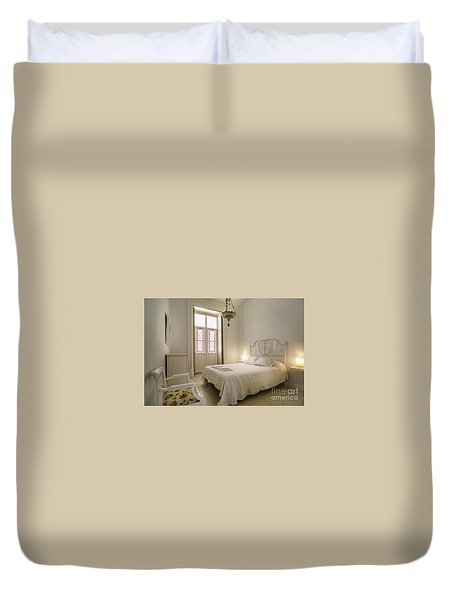 Duvet Cover featuring the photograph Bedroom Apartment In The Heart Of Cadiz by Pablo Avanzini