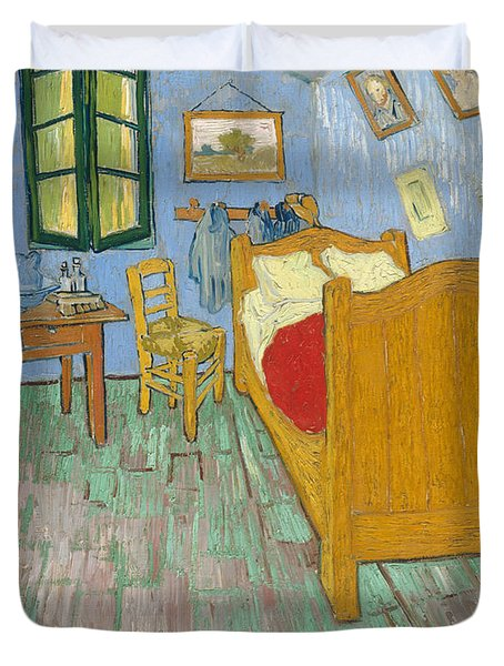 Duvet Cover featuring the painting Bedroom At Arles by Van Gogh