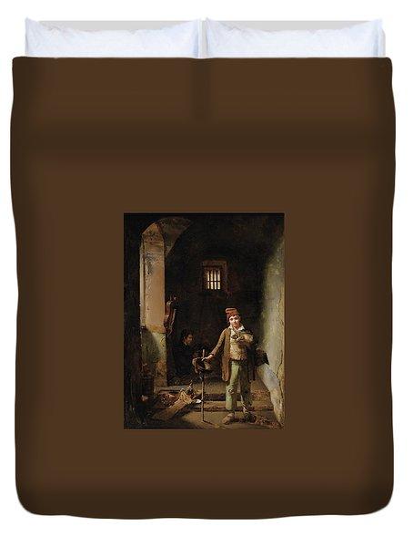 Bedroom Or The Little Groundhog Shower Duvet Cover by MotionAge Designs