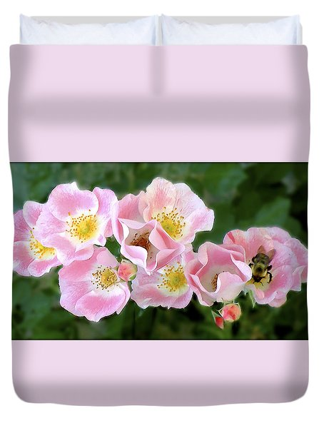 Bee And Roses Duvet Cover