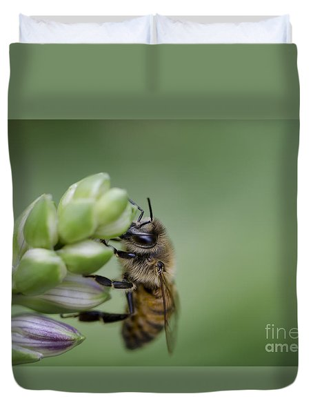 Duvet Cover featuring the photograph Busy Bee by Andrea Silies