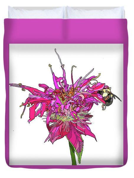 Bee Balm Duvet Cover by Jamie Downs
