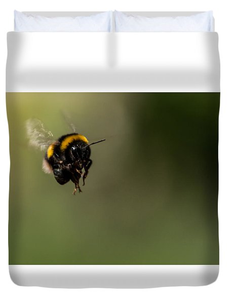 Bee Flying - View From Front Duvet Cover