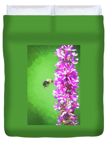 Bee Kissing A Flower Duvet Cover
