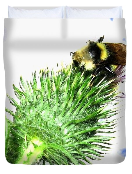 Bee-line 4 Duvet Cover by Will Borden