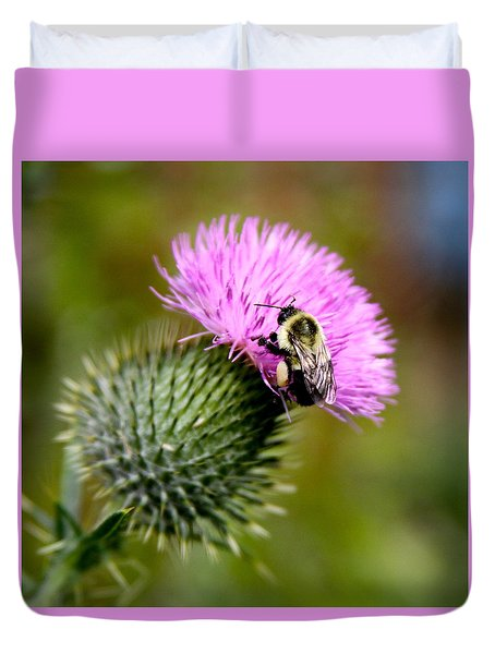 Bee On A Bud Duvet Cover