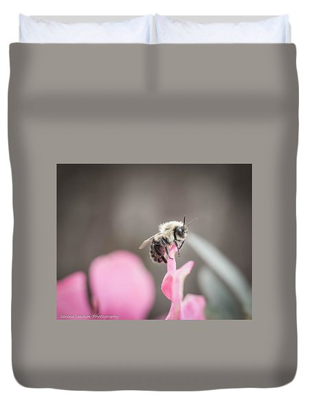 Bee On A Flower Duvet Cover