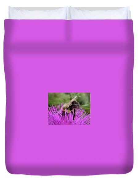 Bee On A Thistle Duvet Cover