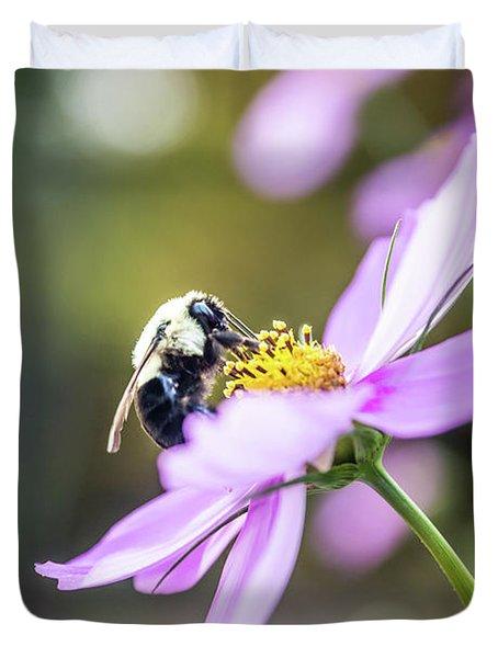 Bee On Flower Duvet Cover
