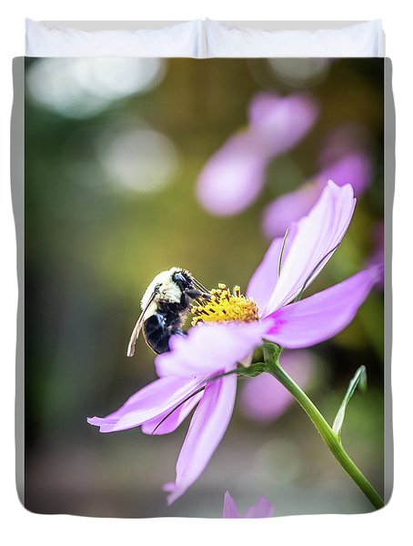 Bee On Flower Duvet Cover