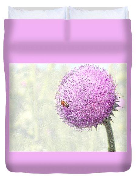 Bee On Giant Thistle Duvet Cover