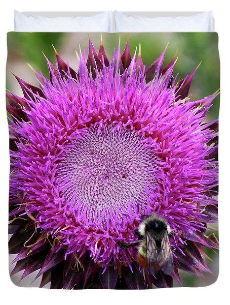 Bee On Thistle Duvet Cover