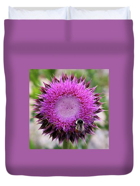 Bee On Thistle Duvet Cover