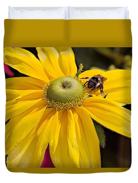 Bee On Yellow Cosmo Duvet Cover