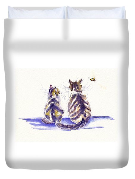 Bee Patient Duvet Cover