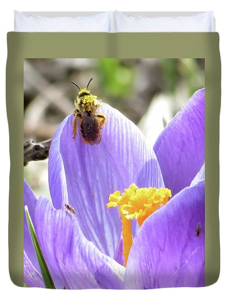 Bee Pollen Duvet Cover