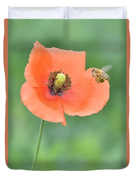 Bee To Poppy Duvet Cover