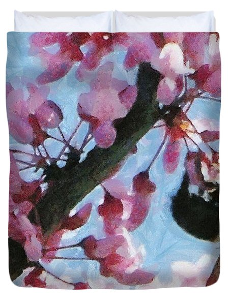 Bee To The Blossom Duvet Cover by Jeff Kolker