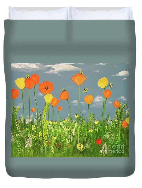 Bee-utiful Day Duvet Cover
