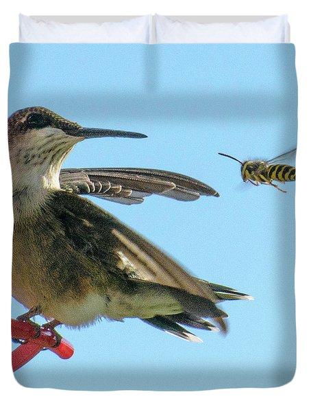 Bee_bird Duvet Cover