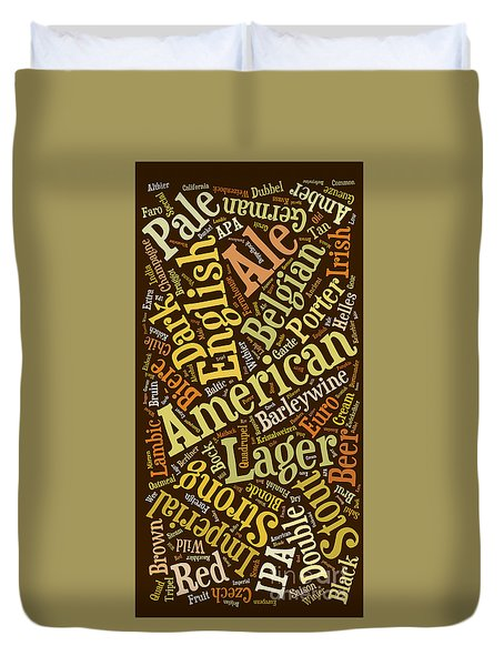Beer Lover Cell Case Duvet Cover by Edward Fielding