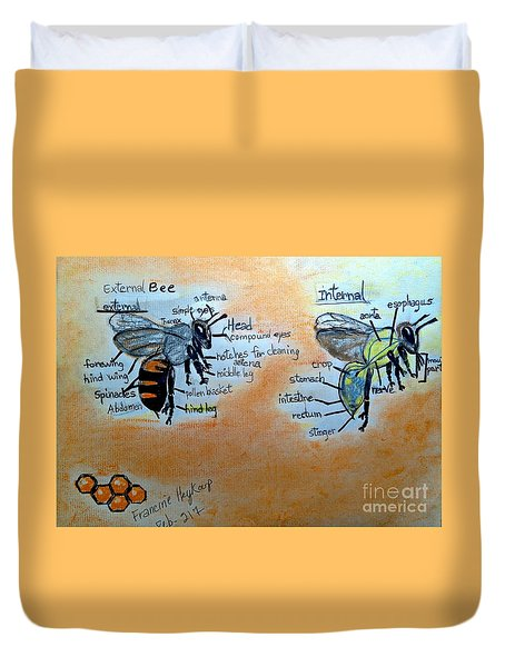 Bees  Duvet Cover by Francine Heykoop