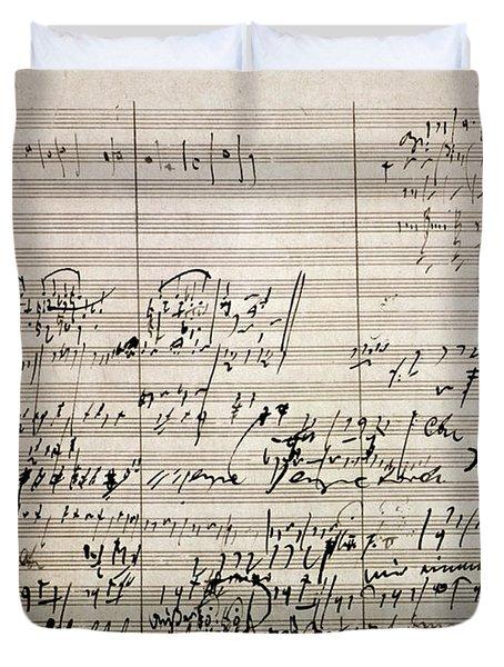 Beethoven Manuscript Duvet Cover by Granger