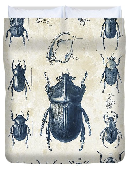 Beetles - 1897 - 02 Duvet Cover by Aged Pixel