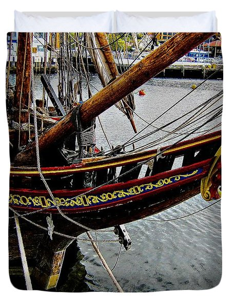 Before Setting Sail Duvet Cover by Douglas Barnard