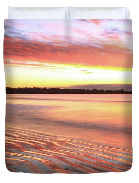 Duvet Cover featuring the photograph Before Sunrise At First Beach by Roupen  Baker