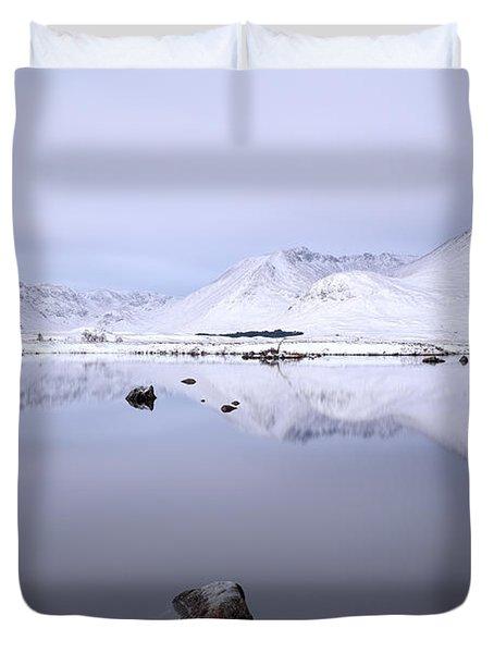 Duvet Cover featuring the photograph Before Sunrise, Glencoe by Grant Glendinning