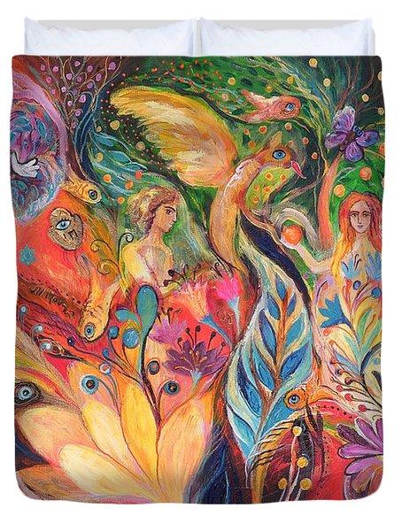 Before The First Sin Duvet Cover by Elena Kotliarker