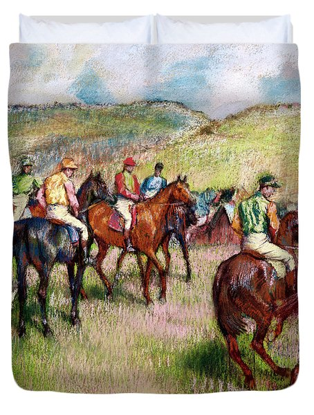 Before The Race Duvet Cover by Edgar Degas