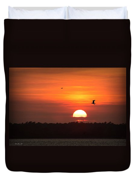 Before The Setting Sun Duvet Cover