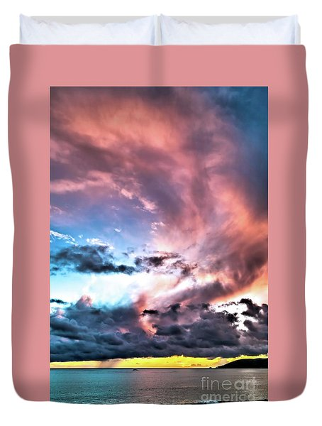 Duvet Cover featuring the photograph Before The Storm Avila Bay by Vivian Krug Cotton