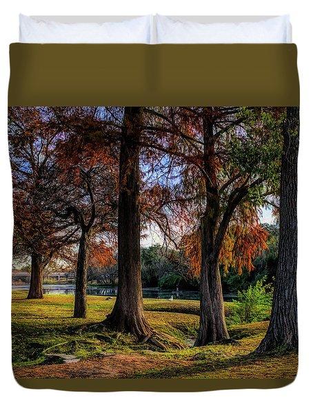 Beginning Of Fall In Texas Duvet Cover