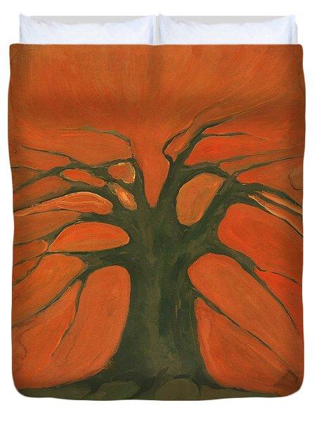 Beginning Of Life Duvet Cover by Wojtek Kowalski