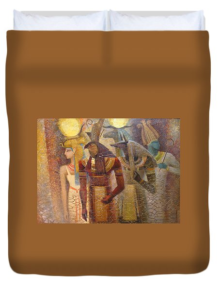 Beginnings. Gods Of Ancient Egypt Duvet Cover