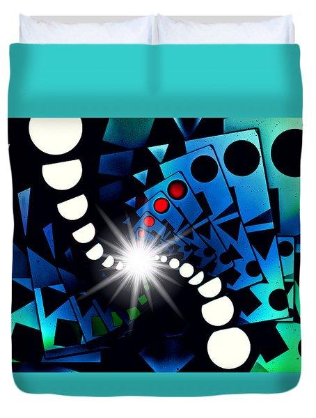 Duvet Cover featuring the digital art Beguiled Again by Aurelio Zucco