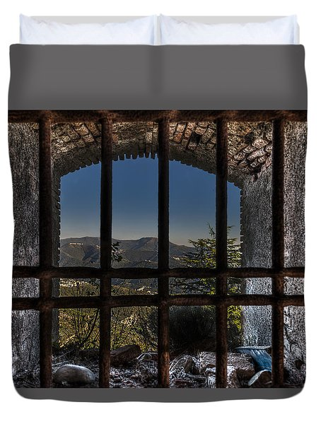 Duvet Cover featuring the photograph Behind Bars - Dietro Le Sbarre by Enrico Pelos