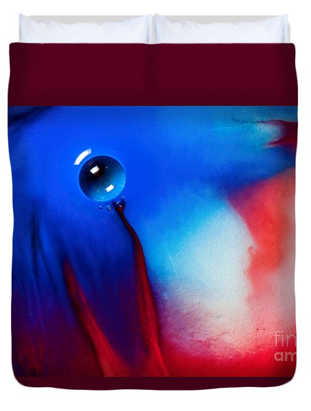 Behind Blue Eye Duvet Cover