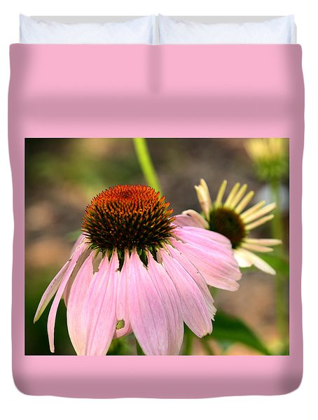 Duvet Cover featuring the photograph Behind Mama's Skirt by Wanda Brandon