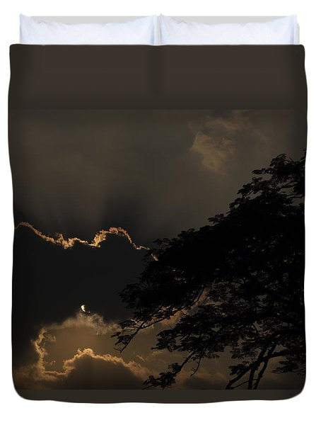 Behind The Cloud Duvet Cover by Kiran Joshi