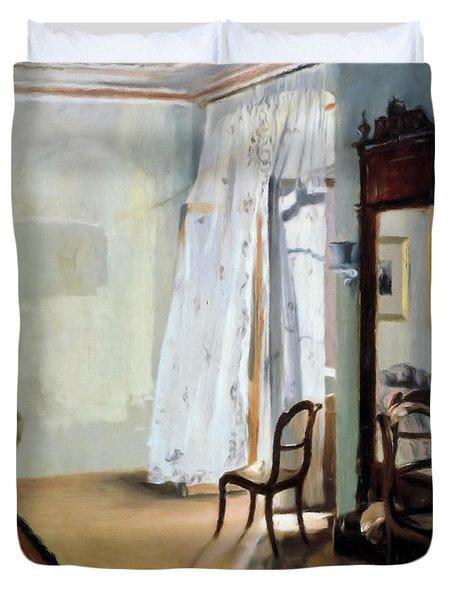 Behind The Curtain Duvet Cover