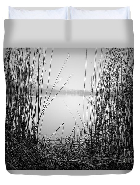 Duvet Cover featuring the photograph Behind The Curtains by Yuri Santin