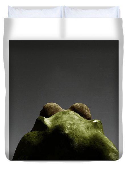 Behind The Frog Duvet Cover