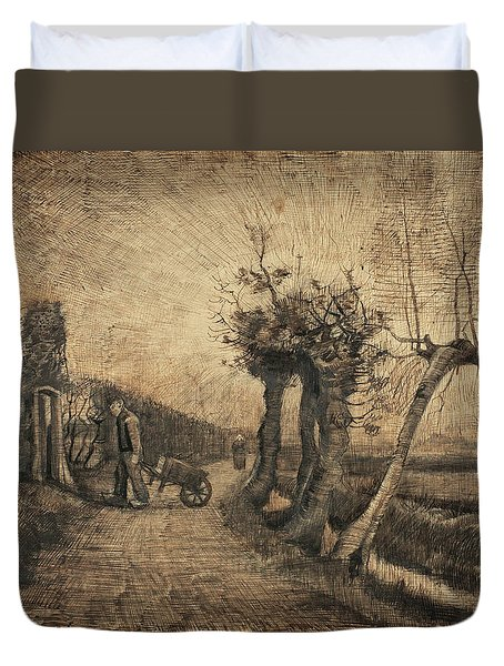 Behind The Hedges, 1884 Duvet Cover