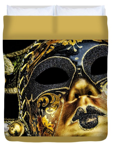 Behind The Mask Duvet Cover by Carolyn Marshall