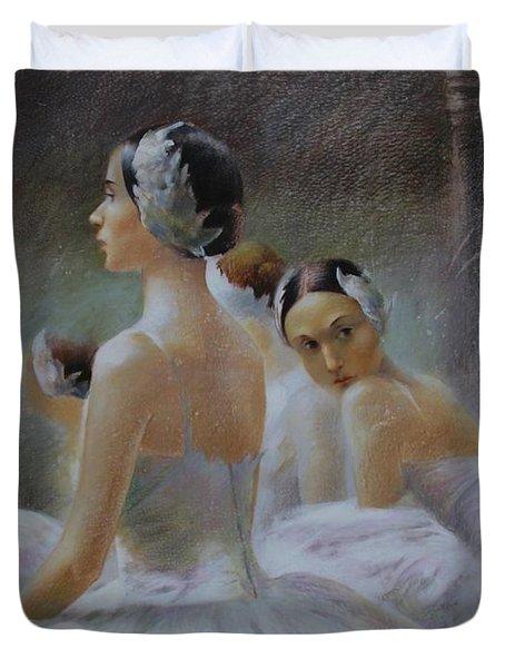 Behind The Scenes Duvet Cover by Vali Irina Ciobanu